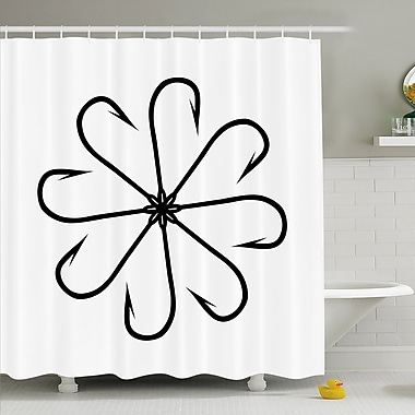 Flower Shaped Artisan Steel Multi Hook Gaff in Row New Needle Device Figure Shower Curtain Set