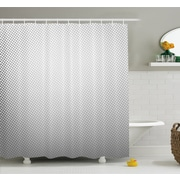 Soft Dots and Spots on Shiny Backdrop Creative Modern Pixel Art Poster Print Shower Curtain Set