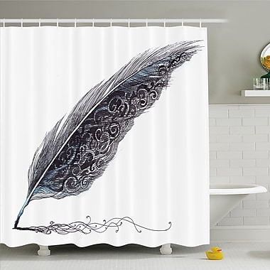 East Urban Home Image of a Dated Classic Quill Shower Curtain Set; 70'' H x 69'' W