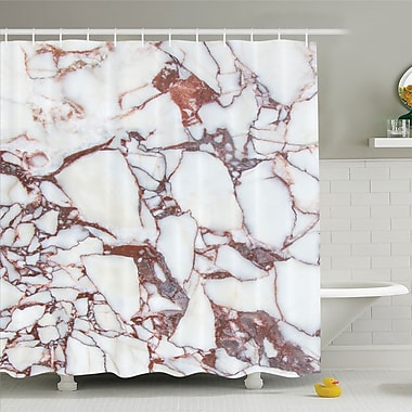 East Urban Home Dolomite Rocks w/ Characteristic Swirls and Cracked Lines Shower Curtain Set
