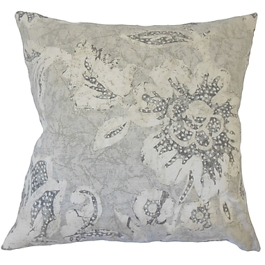 Darby Home Co Cici Modern Floral Down Filled 100pct Cotton Throw Pillow; 18'' x 18''
