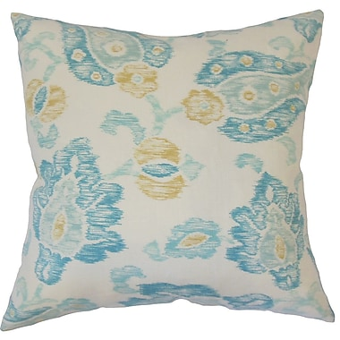 Darby Home Co Cici Floral Down Filled 100pct Cotton Throw Pillow; 18'' x 18''