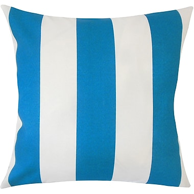 Darby Home Co Frasure Striped Floor Pillow Beachwood; Blue