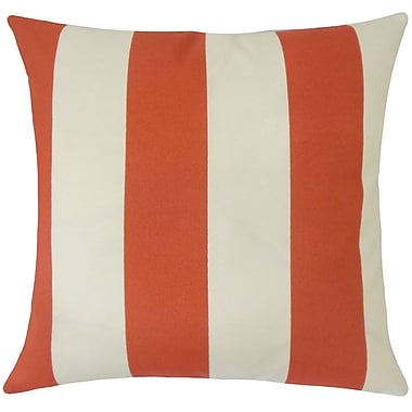 Darby Home Co Frasure Striped Floor Pillow Beachwood; Canyon