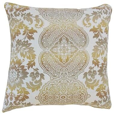 Darby Home Co Frederick Damask Floor Pillow Limestone; Limestone