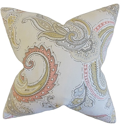 Darby Home Co Friedensburg Paisley Cotton Blend Floor Pillow; Clush