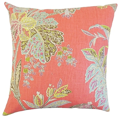 Darby Home Co Fritsch Floral Cotton Blend Floor Pillow; Festival