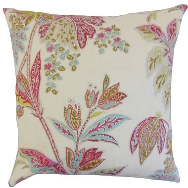 Darby Home Co Fritsch Floral Cotton Blend Floor Pillow; Lotus