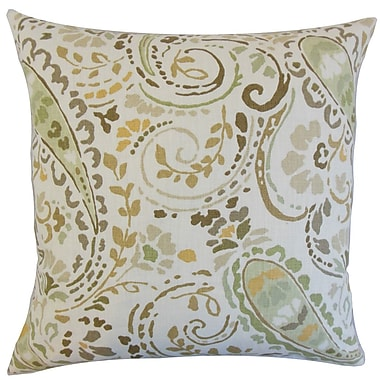 Darby Home Co Fullmer Floral Cotton Blend Floor Pillow; Dusk/Multi