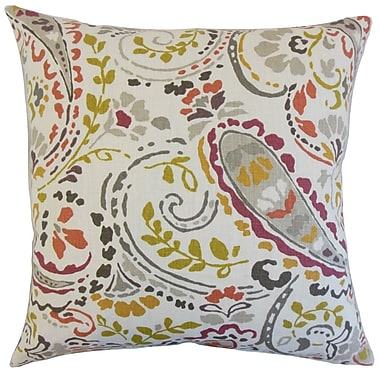 Darby Home Co Fullmer Floral Cotton Blend Floor Pillow; Quary