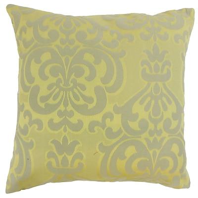Darby Home Co Gaines Damask Cotton Blend Floor Pillow; Lichen