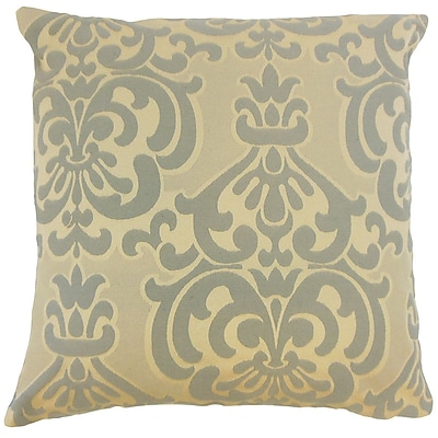 Darby Home Co Gaines Damask Cotton Blend Floor Pillow; Truffle