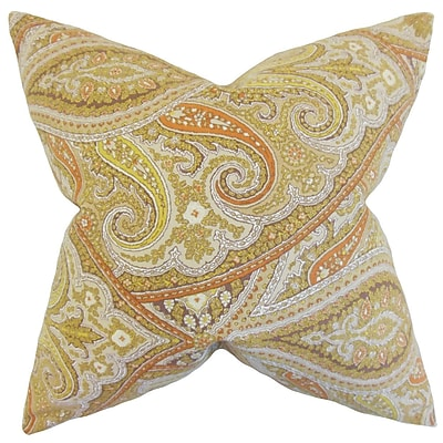 Darby Home Co Galilee Paisley Cotton Blend Floor Pillow; Kiwi