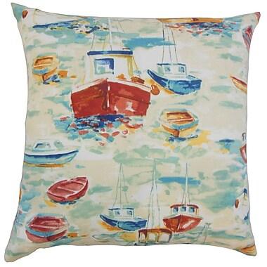 Longshore Tides Rowana Outdoor Floor Pillow Blue; Blue/Yellow