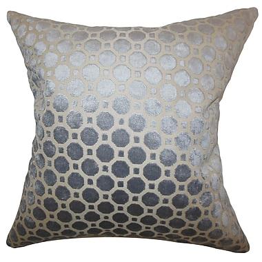 Everly Quinn Maeve Geometric Cotton Blend Floor Pillow; Gray