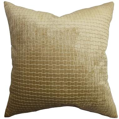 Everly Quinn Abrahams Solid Cotton Blend Floor Pillow; Brown
