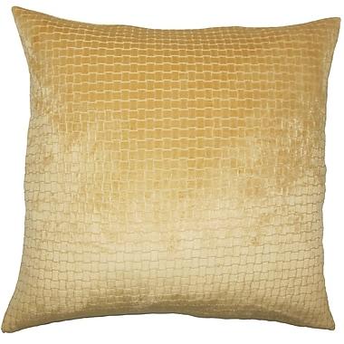Everly Quinn Vadim Solid Down Filled Lumbar Pillow; Camel