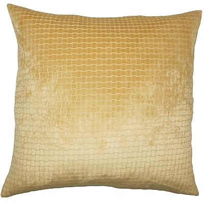 Everly Quinn Vadim Solid Down Filled Lumbar Pillow; Camel