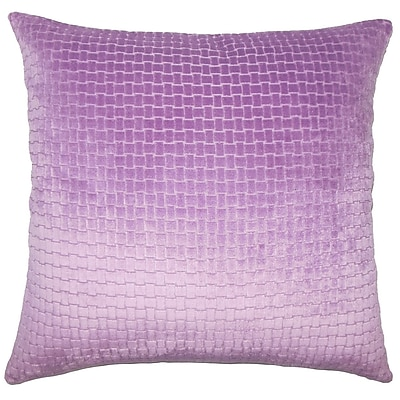 Everly Quinn Vadim Solid Down Filled Lumbar Pillow; Lilac