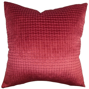 Everly Quinn Abrahams Solid Cotton Blend Floor Pillow; Red