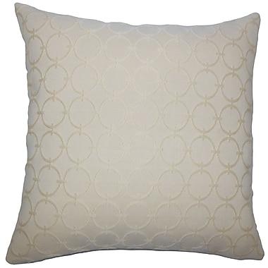 Everly Quinn Acevedo Geometric Floor Pillow Graphite; Sisal