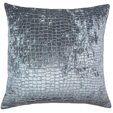 Everly Quinn Lelon Solid Down Filled Lumbar Pillow; Graphite