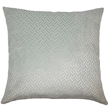 Everly Quinn Pawel Solid Down Filled Lumbar Pillow; Aqua