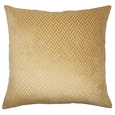 Everly Quinn Pawel Solid Down Filled Lumbar Pillow; Gold
