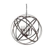 Everly Quinn Adcock 6-Light Steel Globe Pendant; Russet