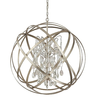 Everly Quinn Adcock 6-Light Globe Pendant; Winter Gold