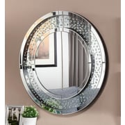 Everly Quinn Contemporary Round Wall Accent Mirror