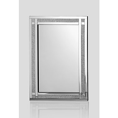 Everly Quinn Rectangle Silver Wall Accent Mirror