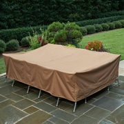 Freeport Park Weather Resistant Table Cover; 27''H x 76''W x 117''D