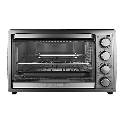 Black & Decker 6-Slice Stainless Steel Rotisserie Oven WYF078281727375