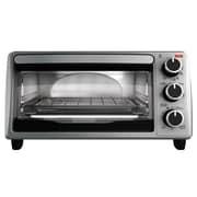Black & Decker Toaster Oven w/ Bake Pan; Silver
