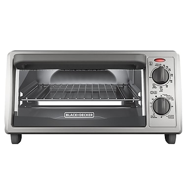 Black & Decker 4-Slice Stainless Steel Toaster Oven w/ Bake Pan
