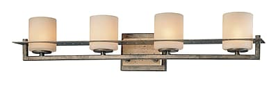 Ivy Bronx Shelia 4-Light Vanity Light; Aged Patina Iron
