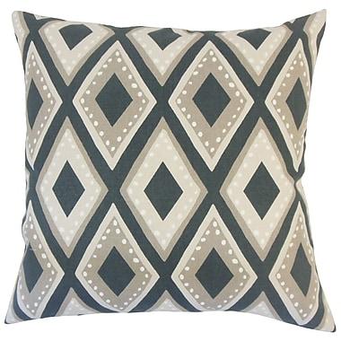 Latitude Run Bigler Geometric Floor Pillow Dandelion; Ink