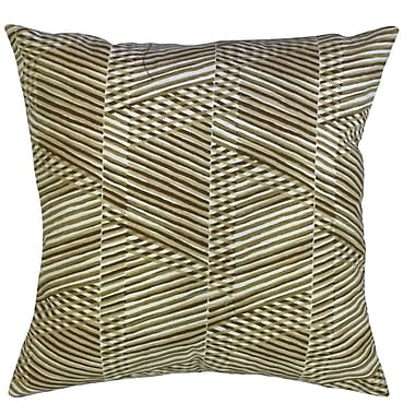 Latitude Run Billington Geometric Floor Pillow Dew; Goldleaf