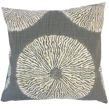 Latitude Run Billiot Ikat Floor Pillow Amber; Gray