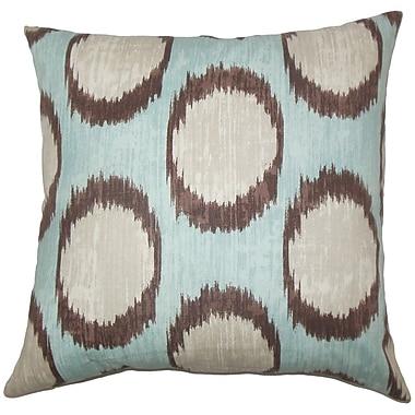 Latitude Run Billips Ikat Floor Pillow Currant; Turquoise