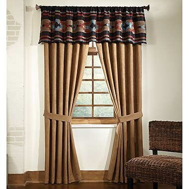 Loon Peak Everett Abstract Semi-Sheer Rod Pocket Single Curtain Panel
