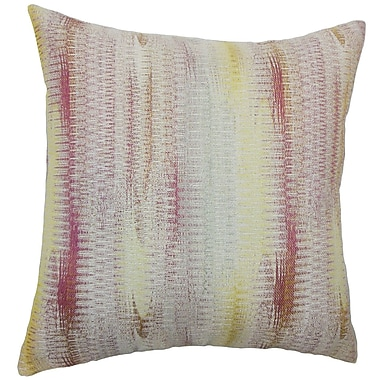 Latitude Run Busby Graphic Cotton Blend Floor Pillow; Freesia