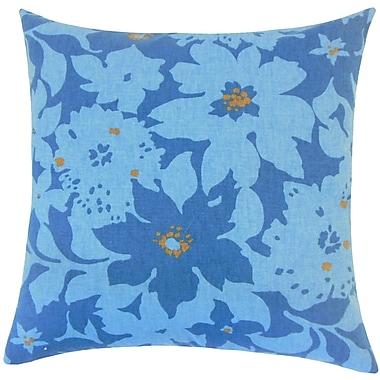 Red Barrel Studio Lavina Floral Floor Pillow Calypso; Calypso