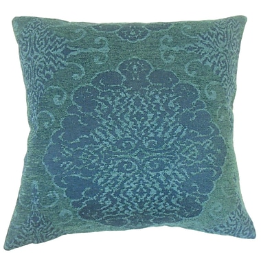 Red Barrel Studio Calypso Damask Down Filled Lumbar Pillow; Azure