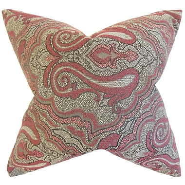 Red Barrel Studio Apache Damask Cotton Blend Floor Pillow; Red