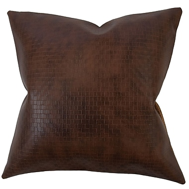 Red Barrel Studio Caldina Solid Down Filled Lumbar Pillow; Dark Brown