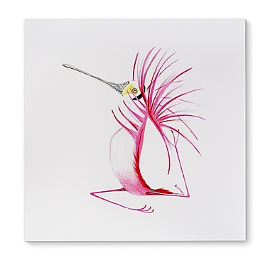 Ebern Designs 'Pink Florida' Print on Wrapped Canvas