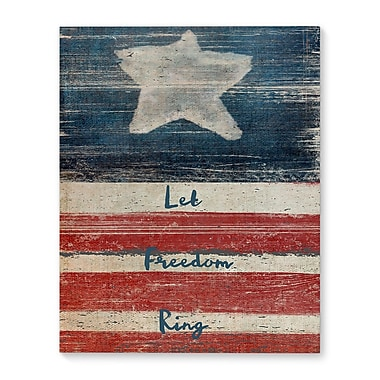 August Grove 'Flag' Vertical Print on Wrapped Canvas