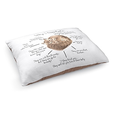 Kavka Why I Love Cats Pet Bed Pillow